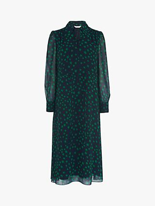 L.K.Bennett Amelie Star Print Midi Dress, Navy