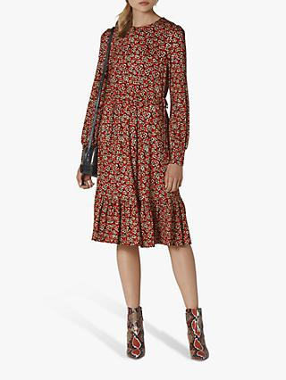 L.K.Bennett Carina Floral Print Dress, Red