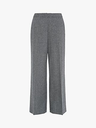 L.K.Bennett Frances Straight Leg Wool Trousers, Grey