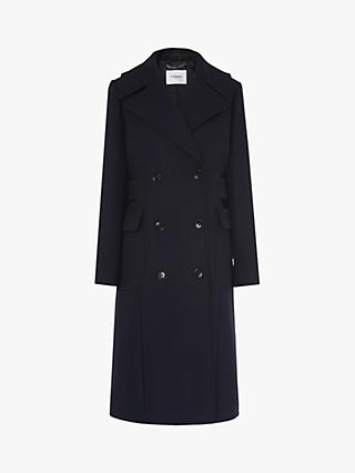 L.K.Bennett Aurelia Trench Coat, Midnight Blue