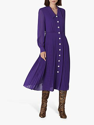 L.K.Bennett Fozette Pleated Shirt Dress