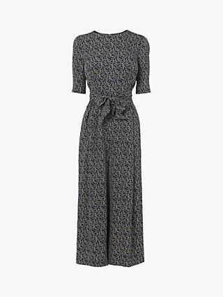 L.K.Bennett Aline Cloud Print Jumpsuit, Midnight