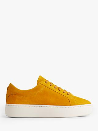 Jigsaw Rayla Flatform Trainers, Yellow