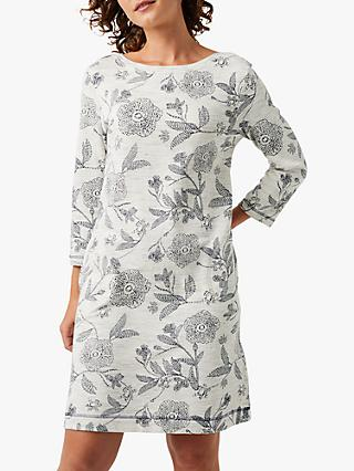 White Stuff Beck Floral Print Dress, Grey Print