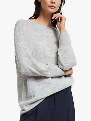 Modern Rarity Sleeve Detail Raglan Jumper, Grey