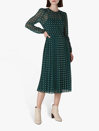Buy L.K.Bennett Avery Dress, Pri-Green Polka, 6 Online at johnlewis.com
