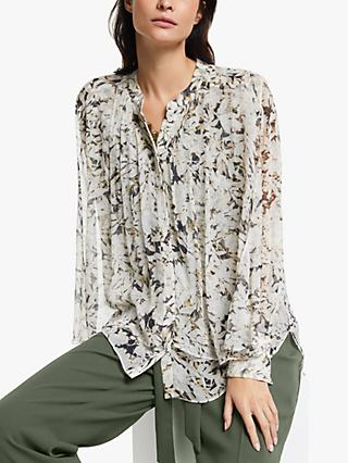Modern Rarity Archive Print Double Layer Top, Black/Multi