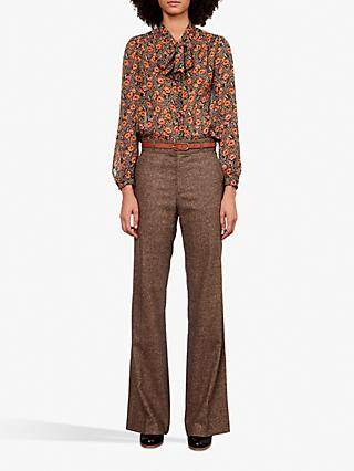 Gerard Darel Laetitia Flared Trousers, Camel