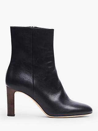 L.K.Bennett Mirabelle Leather Ankle Boots, Black