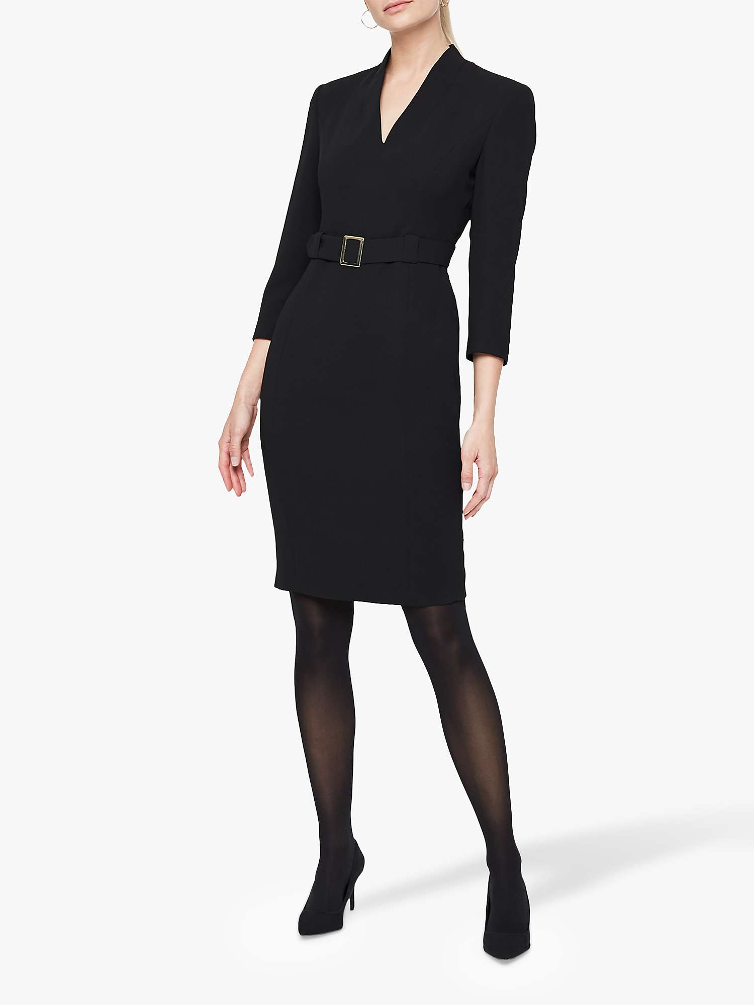 Damsel In A Dress Lydia City Suit Dress, Black by John Lewis
