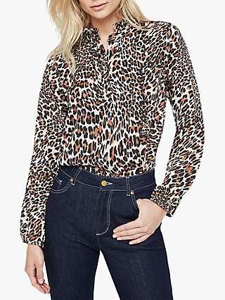 Damsel in a Dress Aimee Animal Print Blouse, Neutral