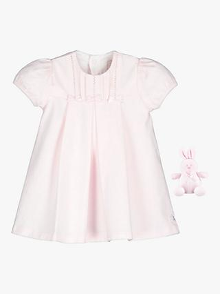 Emile et Rose Baby Seren Dress and Teddy Set, Pale Pink