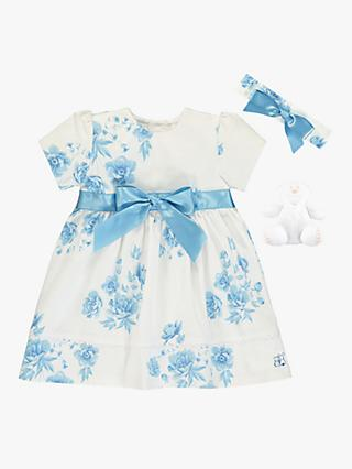 Emile et Rose Baby Seren Dress and Teddy Set, Navy/White