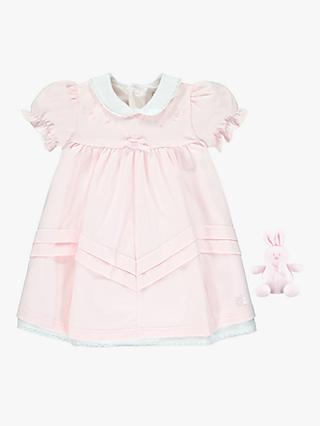 Emile et Rose Baby Sadie Dress and Teddy Set, Pale Pink