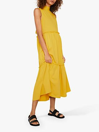 Warehouse Sleeveless Tiered Midi Dress