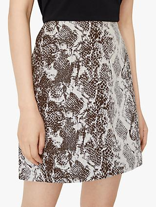 Warehouse Snake Jacquard Skirt, Animal