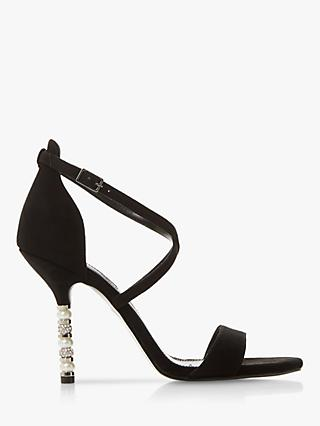 Dune Malibu Embellished Stiletto Heel Sandals, Black