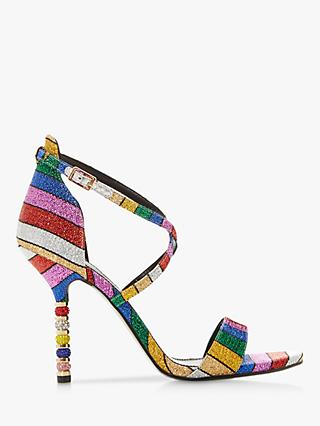 Dune Malibu Embellished Stiletto Heel Sandals, Multi