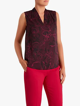 Fenn Wright Manson Gilbertine Floral Top, Magenta/Black
