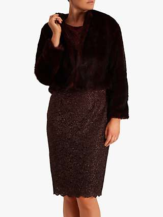 Fenn Wright Manson Francoise Faux Fur Jacket, Burgundy