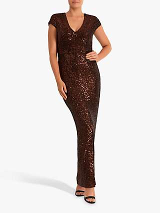 Fenn Wright Manson Frederique Sequin Dress, Rose Gold