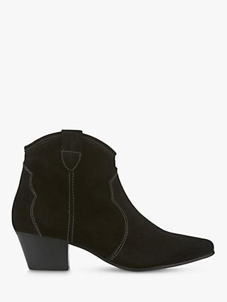 Mint Velvet Clara Suede Pointed Ankle Boots