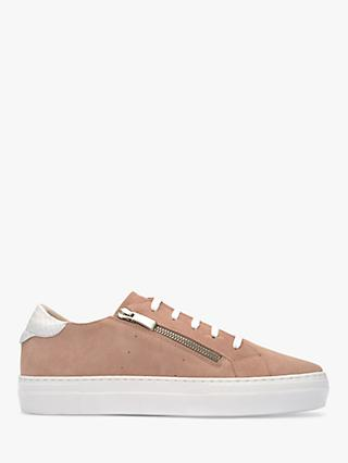 Mint Velvet Iris Suede Slip On Star Trainers, Light Pink