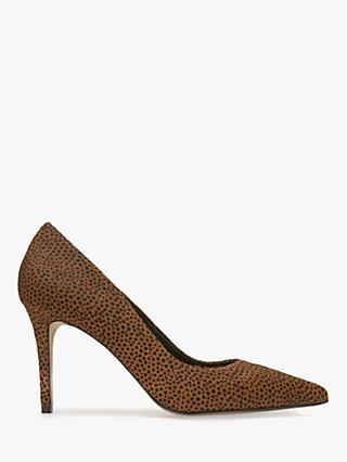 Mint Velvet Sarah Animal Print Court Shoes, Multi/Spot