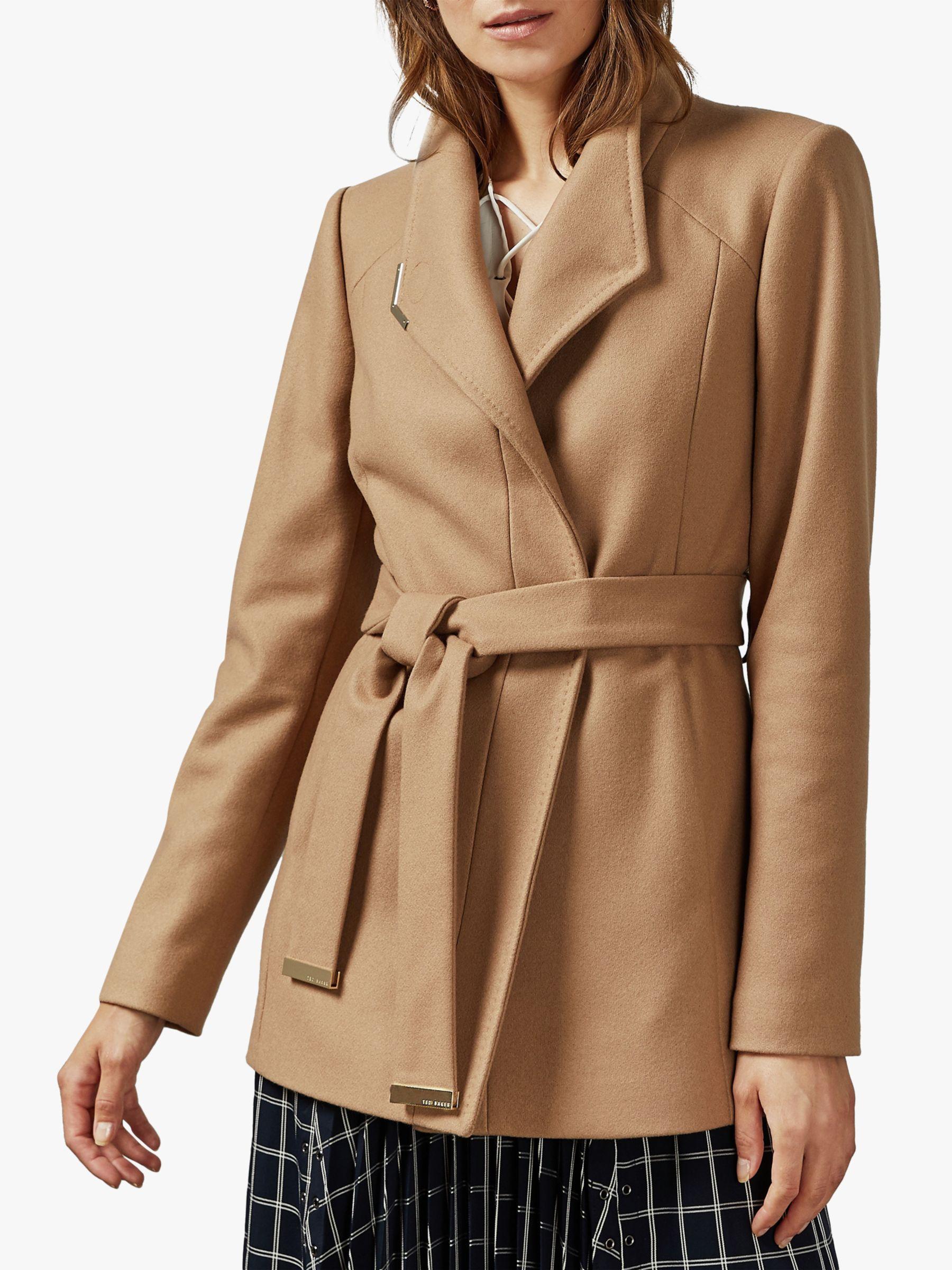 Ted Baker Ted Baker Drytaa Wool Short Belted Wrap Coat