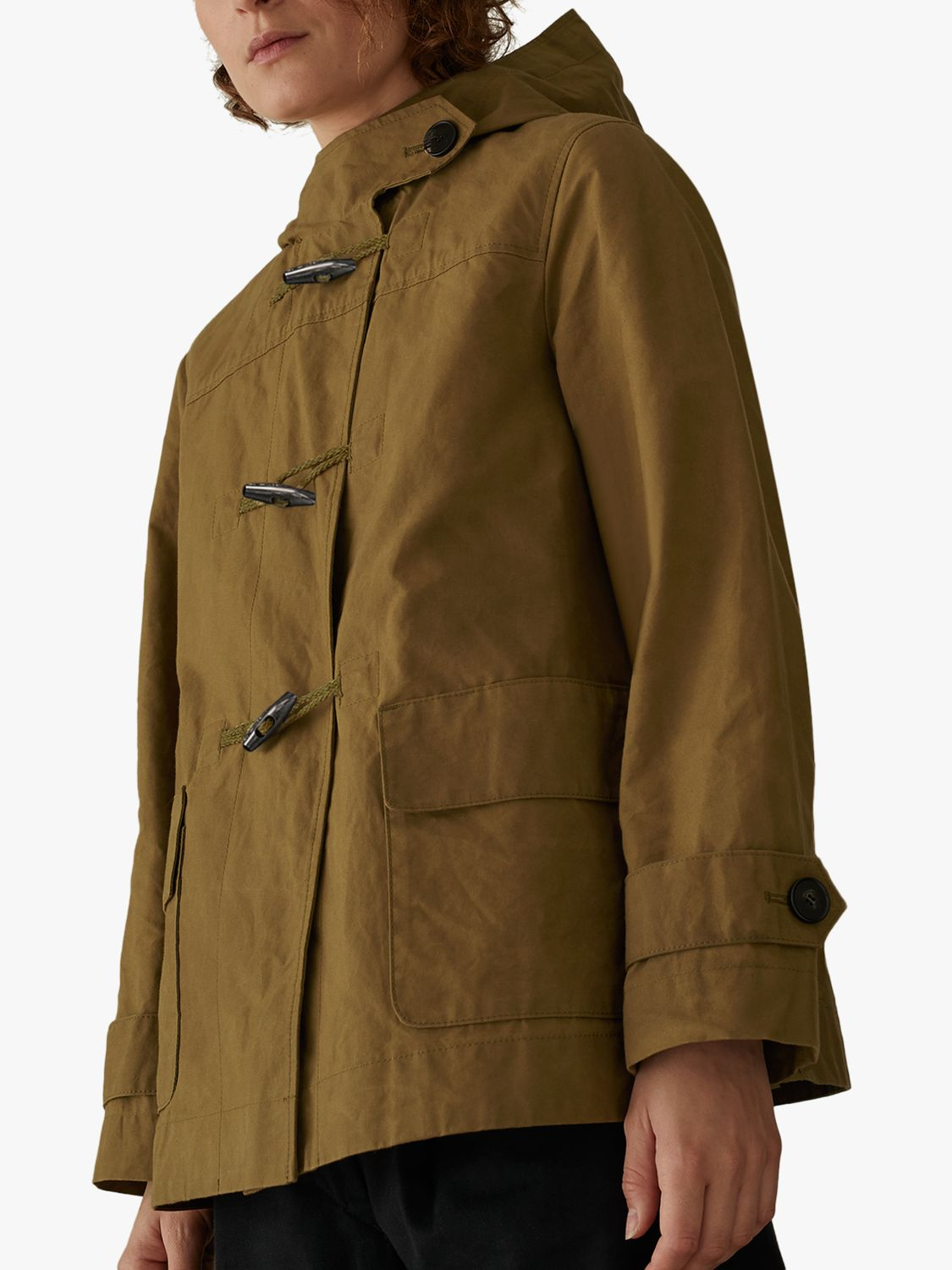 Toast Toast Waxed Cotton Duffle Coat, Breen