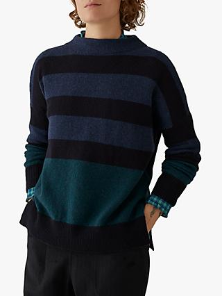 Toast Stripe Easy Jumper, Blue/Multi