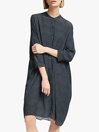 Kin Herringbone Print Shirt Dress, Green