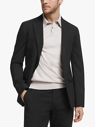 John Lewis & Partners Wool Travel Suit Jacket, Black