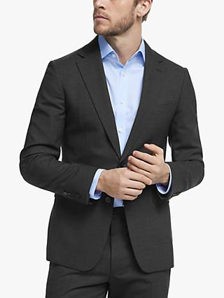 John Lewis & Partners Wool Travel Suit Jacket, Charcoal