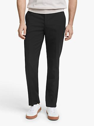 John Lewis & Partners Wool Travel Suit Trousers, Black