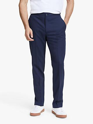 John Lewis & Partners Wool Travel Suit Trousers, Blue