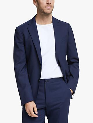 John Lewis & Partners Wool Travel Suit Jacket, Blue