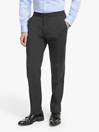 John Lewis & Partners Wool Travel Suit Trousers, Charcoal
