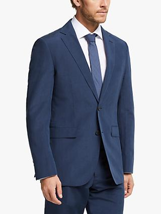 John Lewis & Partners Zegna Silk Linen Tailored Suit Jacket, Indigo
