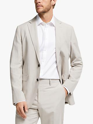 John Lewis & Partners Zegna Silk Linen Tailored Suit Jacket, Sand
