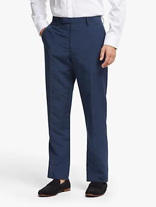 John Lewis & Partners Zegna Silk Linen Tailored Suit Trousers, Indigo