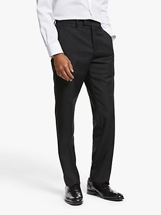 John Lewis & Partners Dogtooth Tailored Fit Dress Suit Trousers, Black