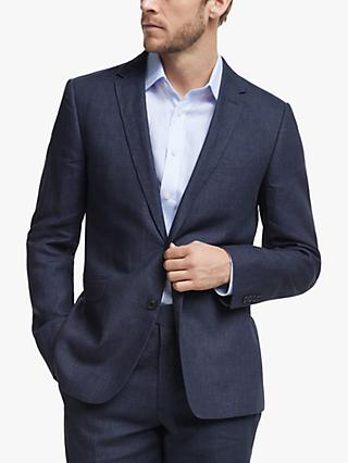 John Lewis & Partners Linen Slim Fit Suit Jacket, Navy