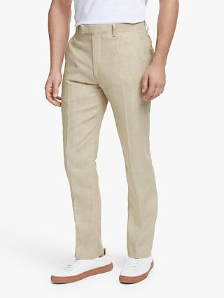 John Lewis & Partners Linen Slim Fit Suit Trousers, Stone