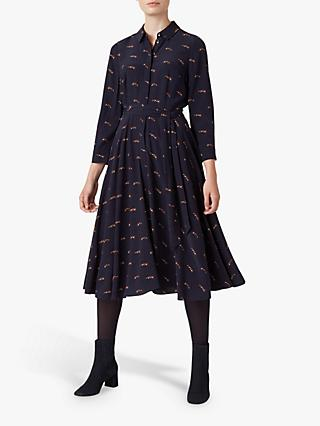 Hobbs Lainey Shirt Dress, Navy Multi