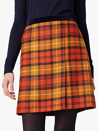 Hobbs Christine Skirt, Orange Multi