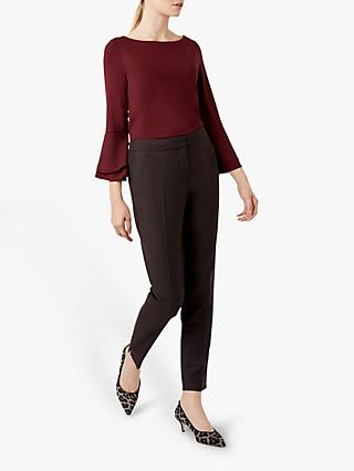 Hobbs Thora Frill Top, Bordeaux