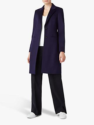 Hobbs Tilda Wool Coat, French Navy