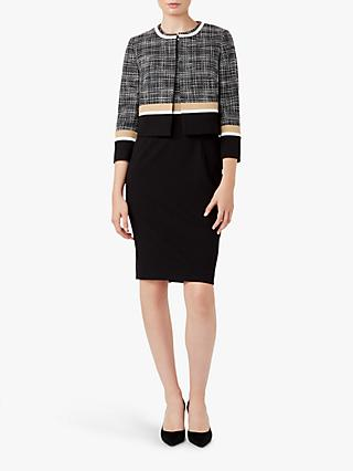 Hobbs Aida Colour Block Jacket, Black/Camel