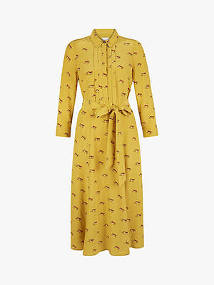 Buy Hobbs Tanya Shirt Dress, Mustard Multi, 8 Online at johnlewis.com